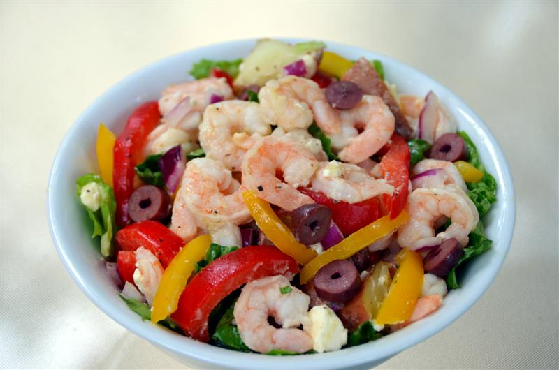 Mediterranean Potato Salad with Shrimp and Feta - ButterYum