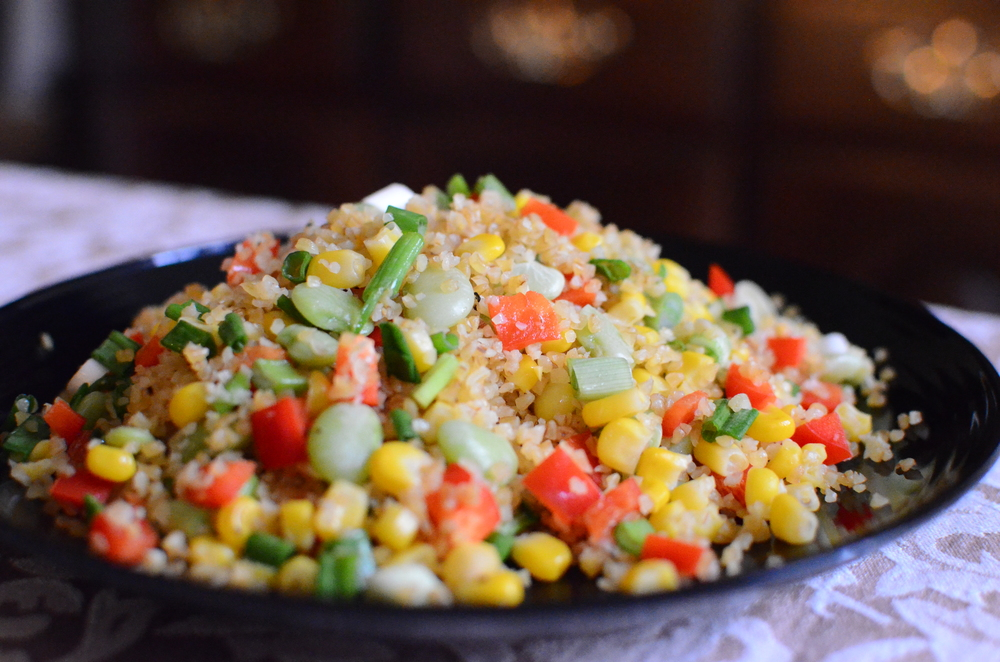 Bulgur Wheat Succotash - ButterYum