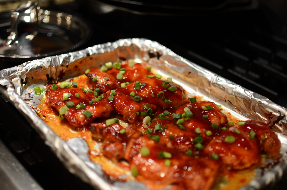 Asian-Style Baked Chicken - ButterYum. how to make chicken thighs in the oven. what to do with boneless skinless chicken thighs. how to cook boneless skinless chicken thighs. two to make chicken thighs. how to cook chicken thighs. chicken thigh recipe.