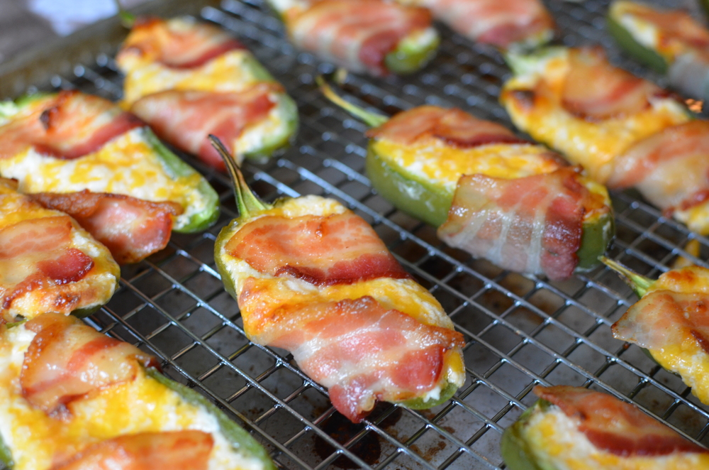Bacon Wrapped Jalapeno Poppers - ButterYum