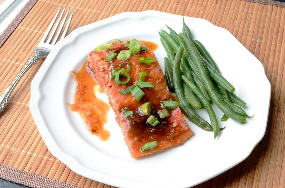 Oven Roasted Salmon with Ginger Soy Glaze - ButterYum