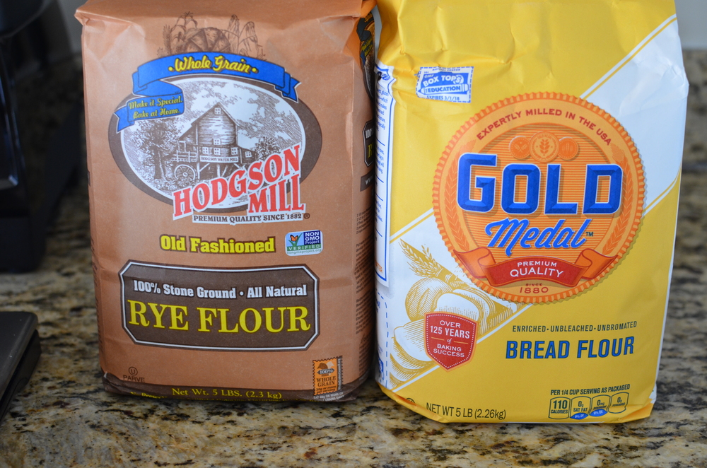 I wasn't able to find pumpernickel flour or coarse rye flour, but I did find stone ground rye.  The recipe also calls for gold medal bread flour - it's much easier to find.   By the way, Rose apparently told one of the Alpha Bakers that the rye flour can be replaced with the same amount of bread flour, so there you go.
