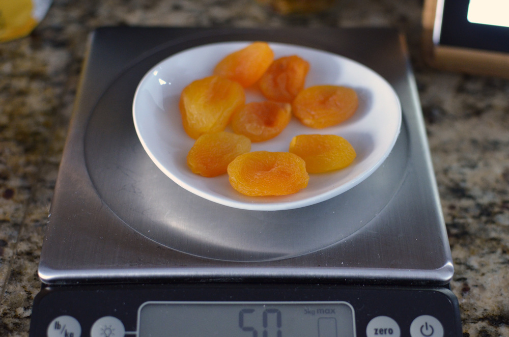 Here are the dried apricots.  I'm not generally a fan of dried apricots, but I really liked them in this recipe.