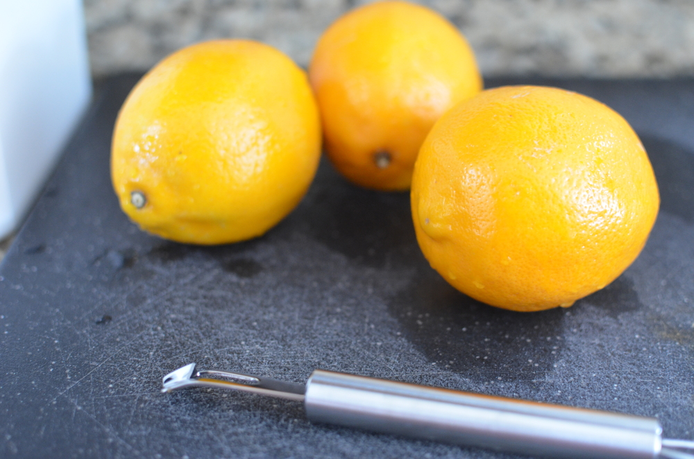 This recipe calls for Meyer lemons - a cross between traditional lemons and tangerines.  They're a little less acidic than common Eureka lemons.