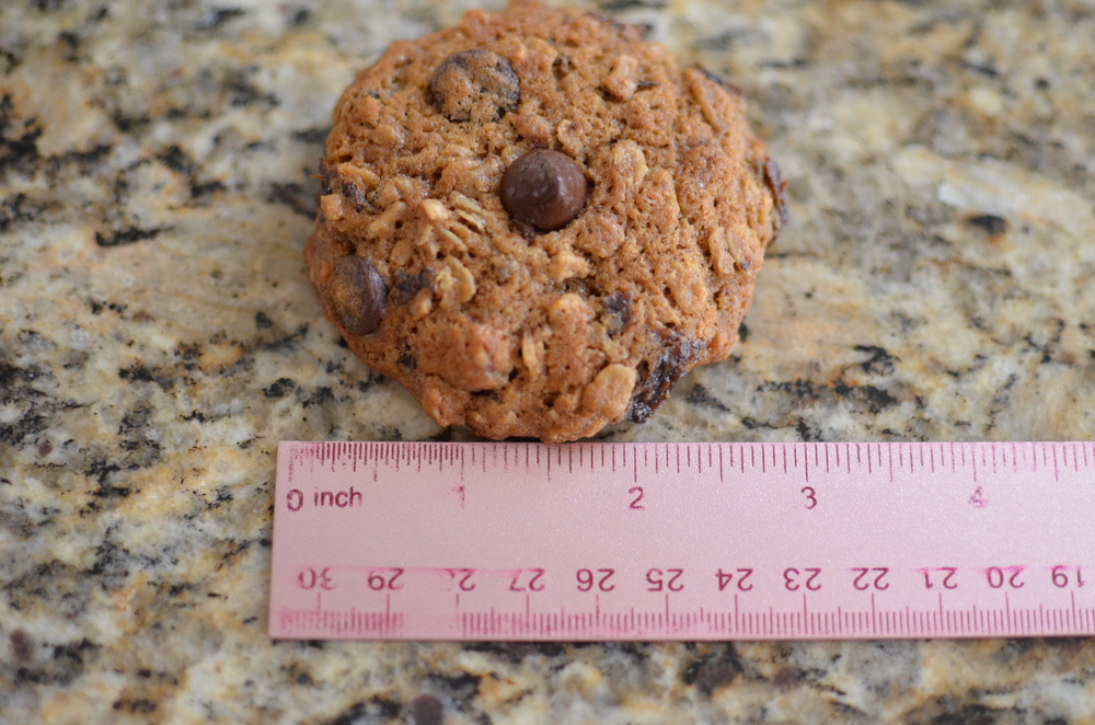 These cookies are pretty big - 3 inches in diameter.