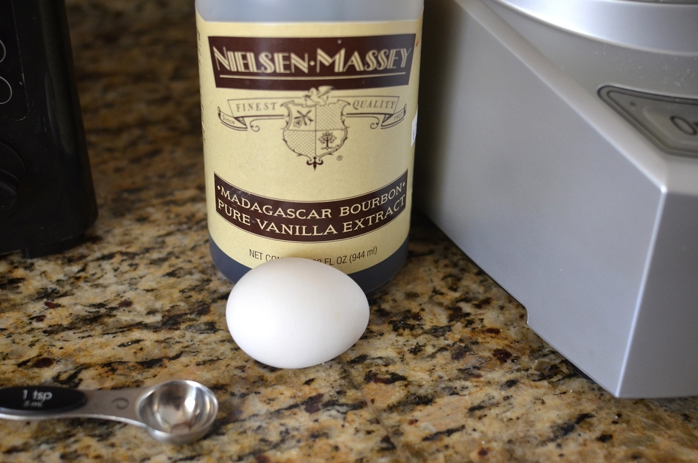 dd vanilla and egg.  Be sure to use the very best vanilla you can.... it makes a huge difference that you can taste!