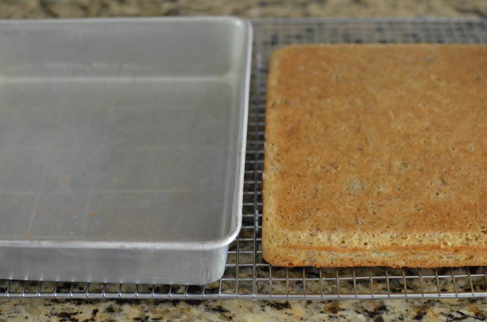 See how perfectly the Baker's Joy helped the cake release from the pan?  Again, Happy-happy!   Glad I could share a couple of awesome tricks with you.  Happy Baking!