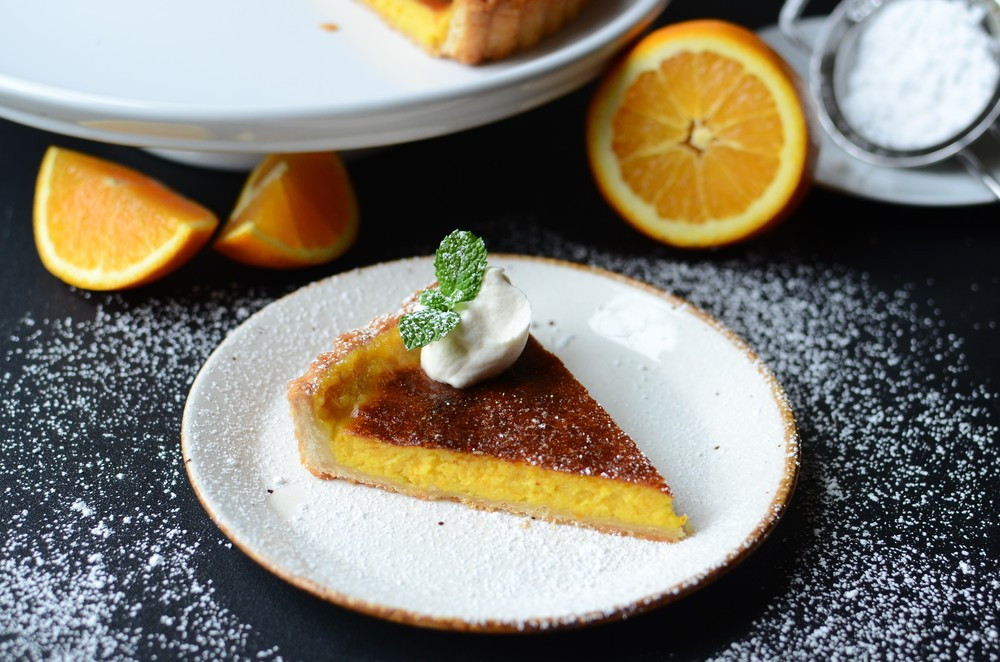 French Orange Cream Tart - ButterYum