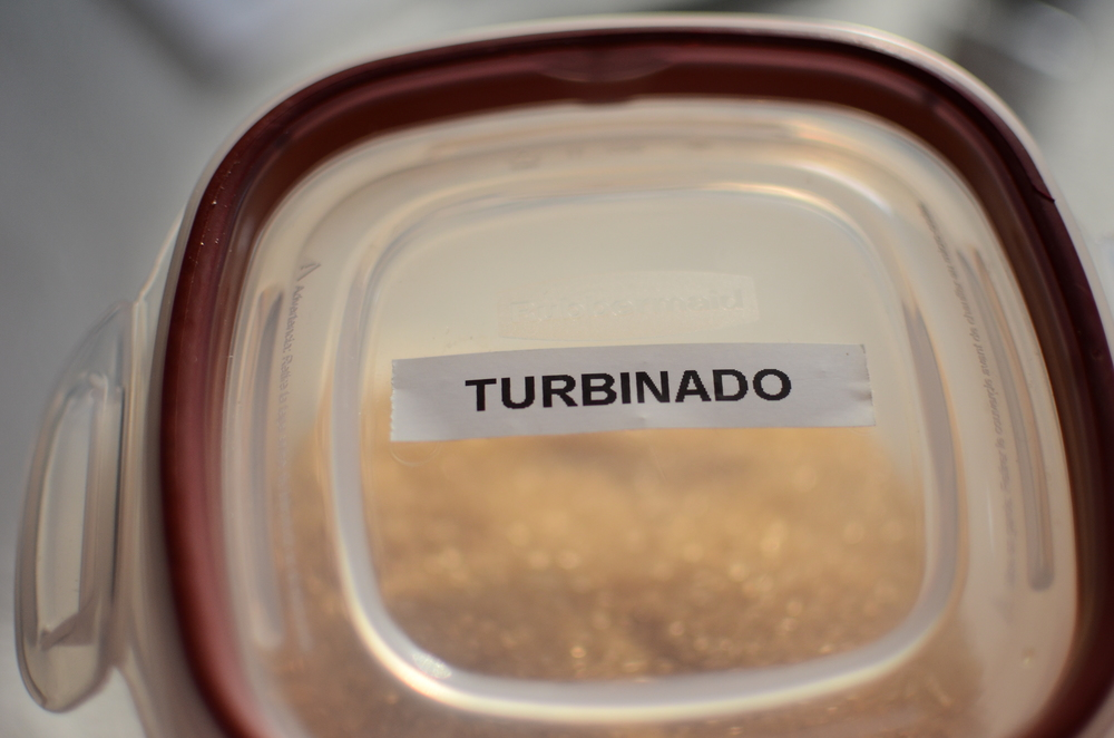 "Turbinado sugar is also known as ""sugar in the raw"".  FYI."
