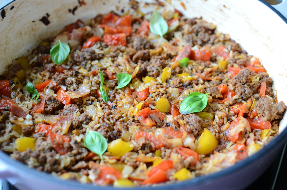 Easy Beef and Tomato Bake recipe with how-to photos