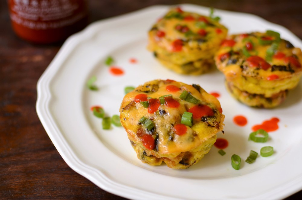 Bacon and Mushroom Frittata Cups - ButterYum