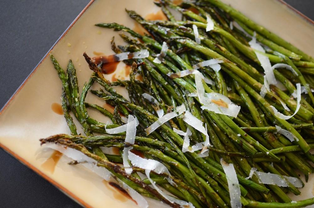 Pencil-Thin Asparagus - ButterYum.  thin asparagus recipe.  skinny asparagus recipe.  how to roast asparagus.