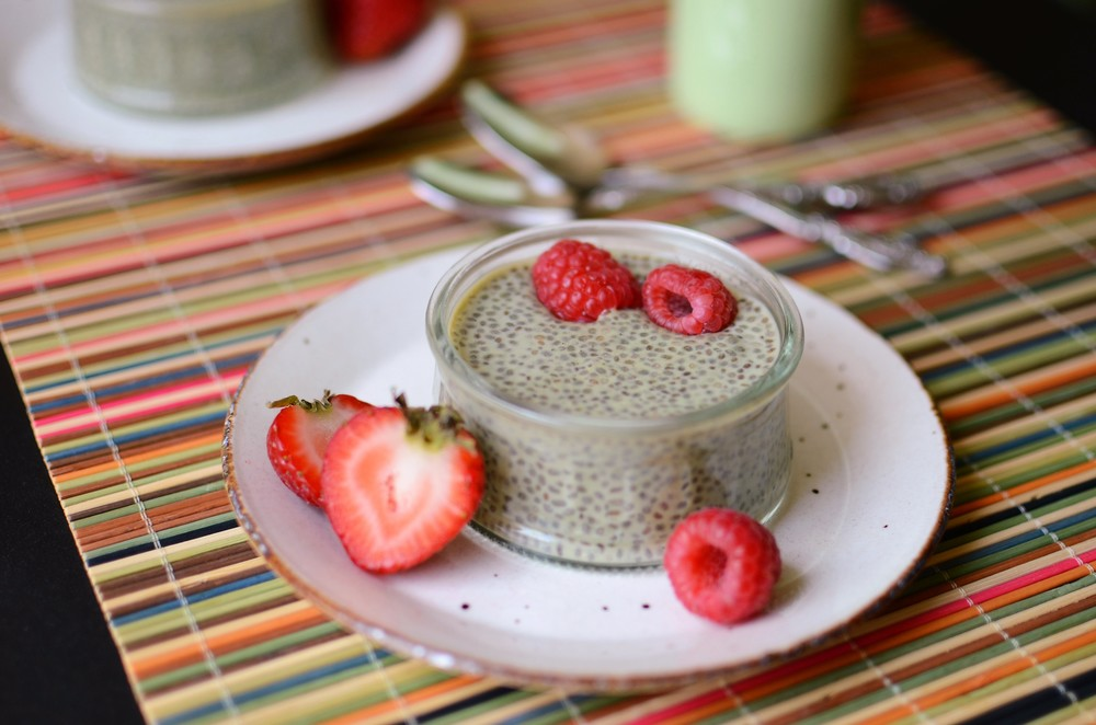 Green Tea Chia Seed Pudding - ButterYum