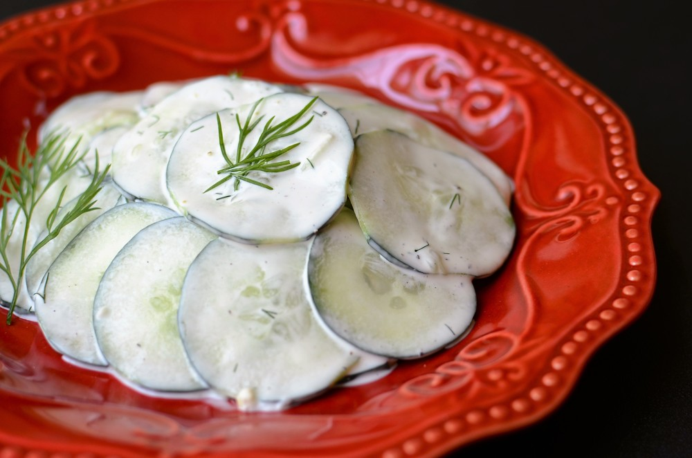 greek yogurt cucumber salad recipe with how to photos