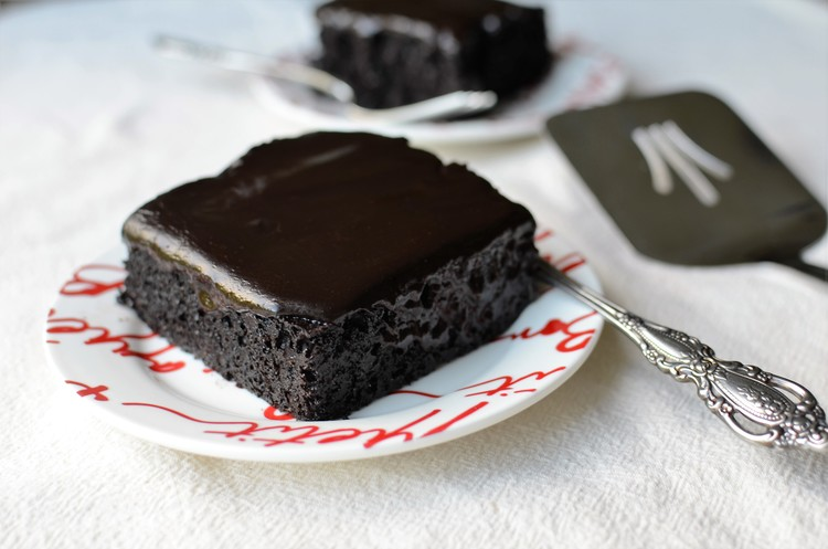 Chocolate Mocha Zucchini Cake, shared by Butter Yum at The Chicken Chick's Clever Chicks Blog Hop