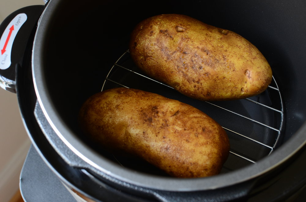 how to pressure cook potatoes, how to photos