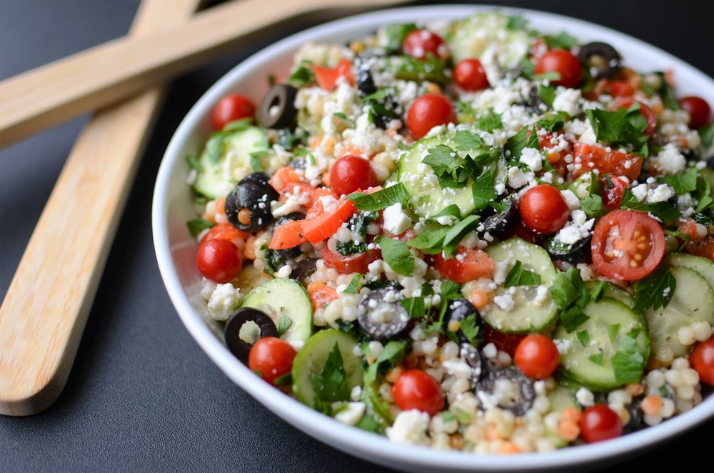 Greek Pearl Couscous Salad - ButterYum