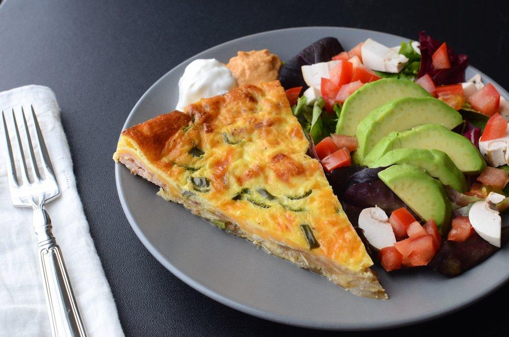 Crustless Quiche Recipe with photos