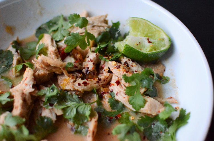 Thai Peanut Shredded Chicken, shared by Butter Yum at The Chicken Chick's Clever Chicks Blog Hop