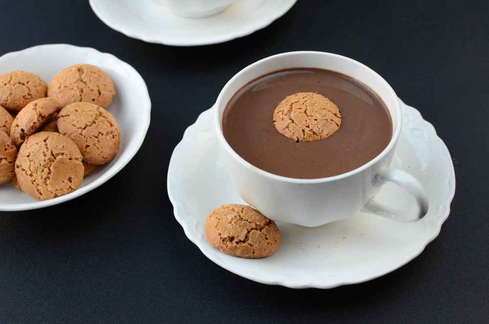 Coconut Hot Chocolate - ButterYum.  Coconut hot cocoa recipe.