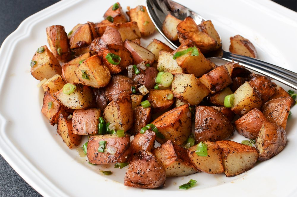 Crispy Home Fries - ButterYum.  How to make home fries.  What to do with leftover potatoes.