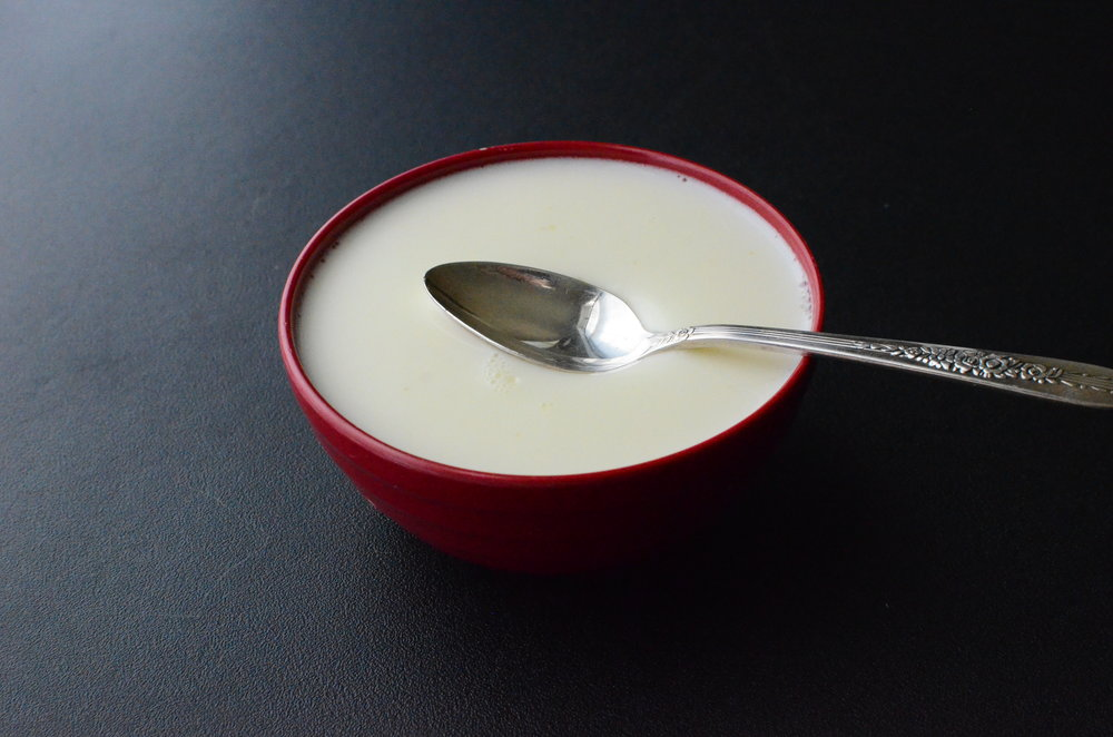 Chinese ginger milk pudding recipe.  Chinese ginger milk curd recipe.  How-to Photos!
