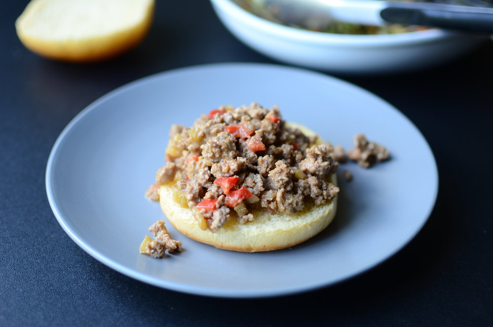 building an asian-inspired sloppy joe sandwich - recipe with howto photos