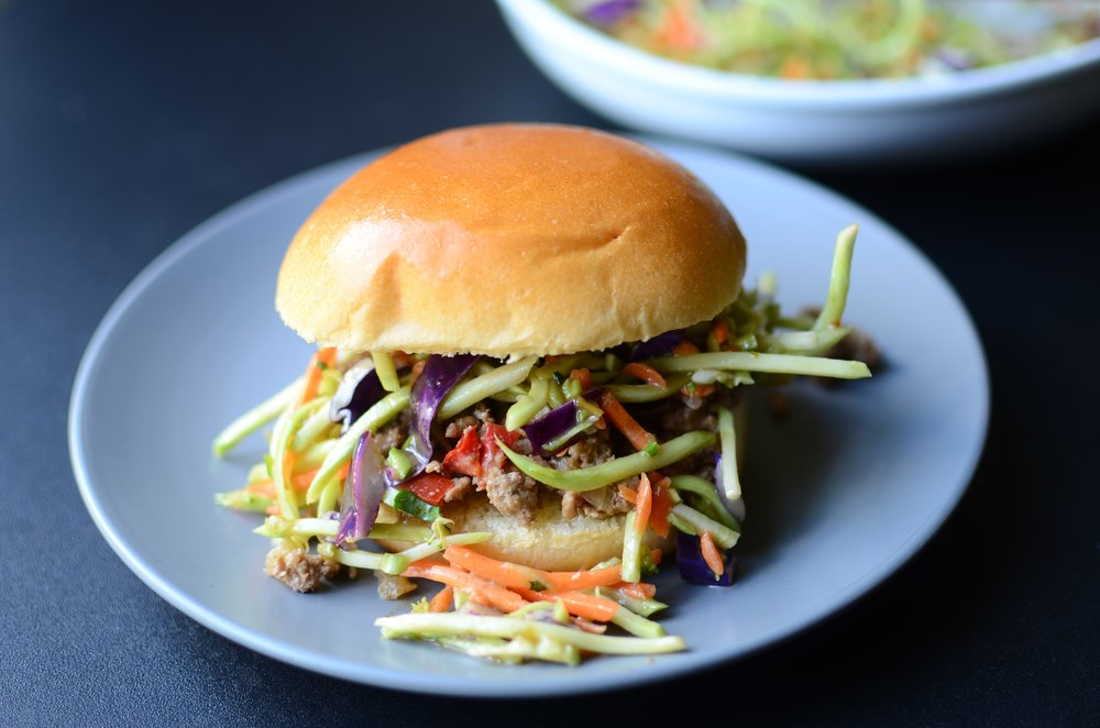 Sloppy joes with an Asian flavor profile - recipe and howto photos