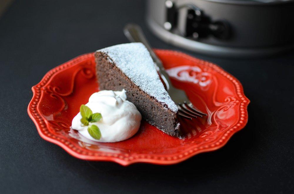 Gluten-Free Fudge Cake - ButterYum —