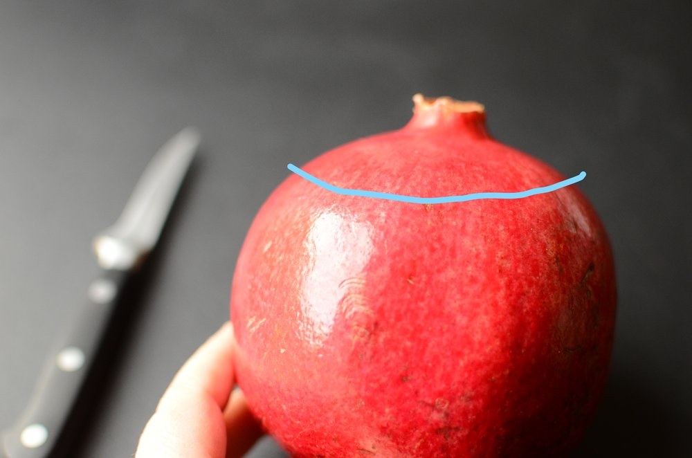 the best way to open an pomegranate