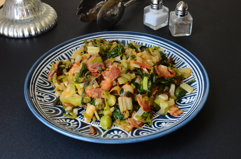 Spicy Leeks and Rainbow Chard - ButterYum —
