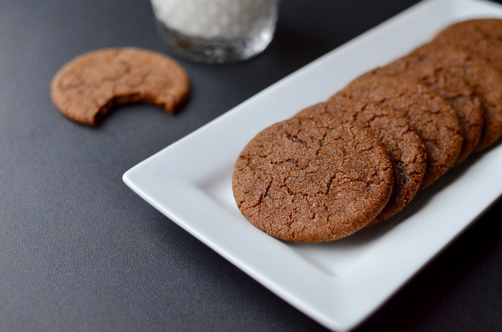 Chewy Molasses Cookies - ButterYum —