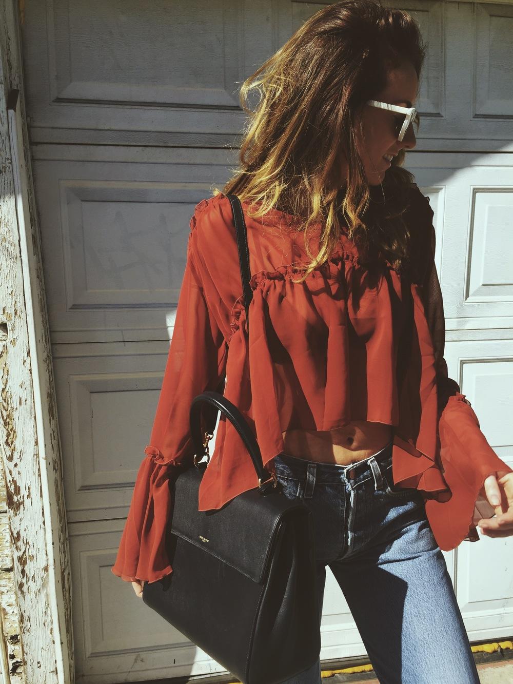 Outfit//Top  Maurie & Eve // Jeans Vtg Levis // Bag  YSL via Trendlee // Shoes  ASOS // Sunglasses Vtg