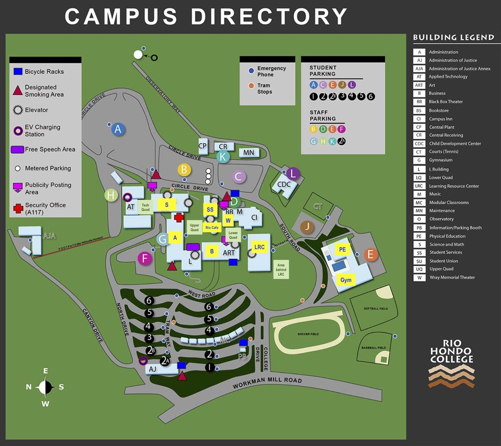 Rio Hondo College Building Map 33rd Annual Los Angeles County