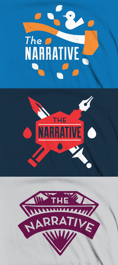 Some proposed shirts for The Narrative