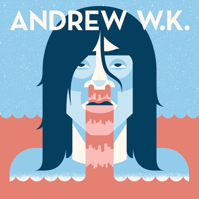 My contribution  to the 33.3.2 art show:    I Get Wet    by Andrew W.K.   Check out the rest of the awesome re-imagined album art from the  33.3.2 art show