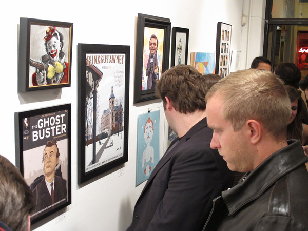 "Looks like ""Please Post Bills"" opening at Gallery 1988 was a hit! I spotted my print up on the wall surrounded by some great work. See the prints for sale here."