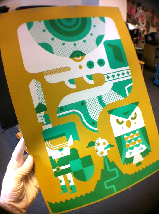 My Zelda poster is on press over at  Mama's Sauce !   Looking good.