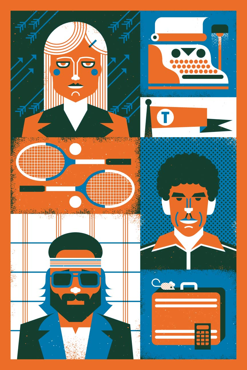 "Here is my piece for the Wes Anderson Tribute show at  Gallery 27  opening tomorrow!    Betrayal, Failure, & Disaster  12"" x 18"" 2 color screen print on French Paper Inspired by   The Royal Tenenbaums"