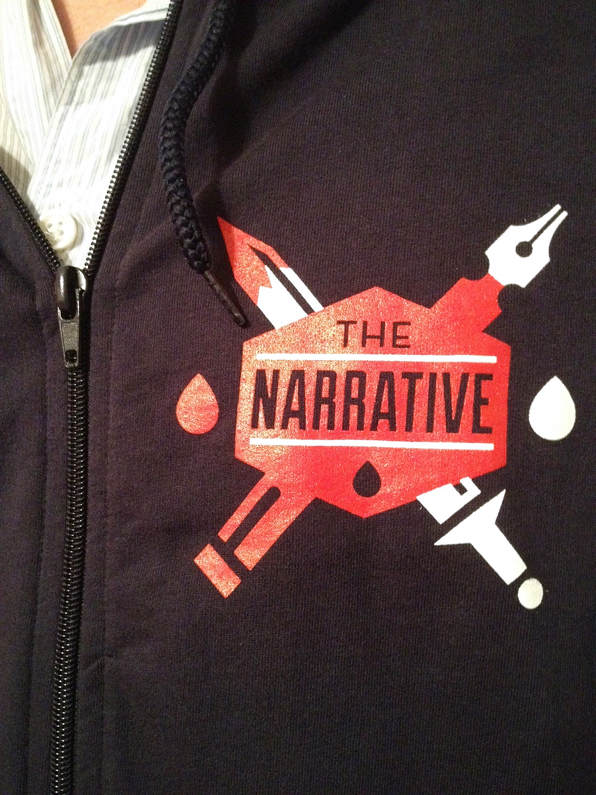 Check out the  Narrative  hoodie I designed!