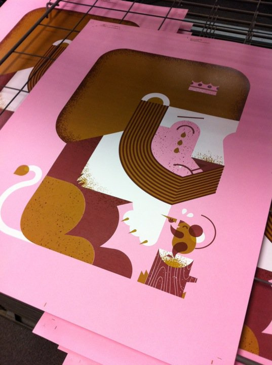 * SNEAK PEEK *   Another print on the drying rack!   (for  Deqqo  and by  Mama's Sauce )