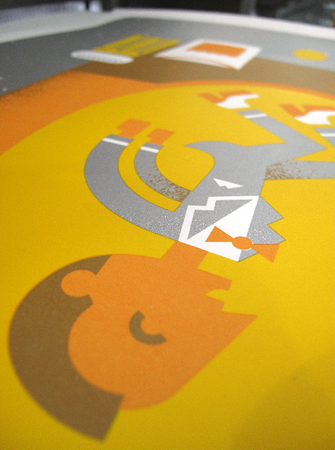 * SNEAK PEEK * Detail shot of the Pee-wee poster. Check out that silver! (via seizure palace)