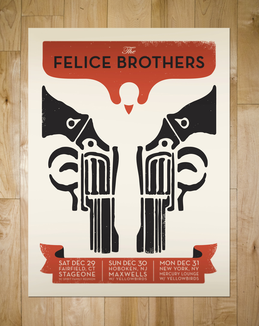 New gig poster for The Felice Brothers!