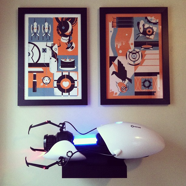 Quick snapshot of the portal shrine I built today. The posters go on sale officially next week!