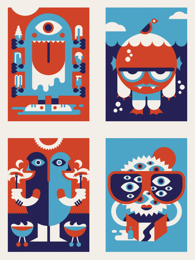 * BANDITO ORIGINAL * new summer monster cards sent off to print. available soon!