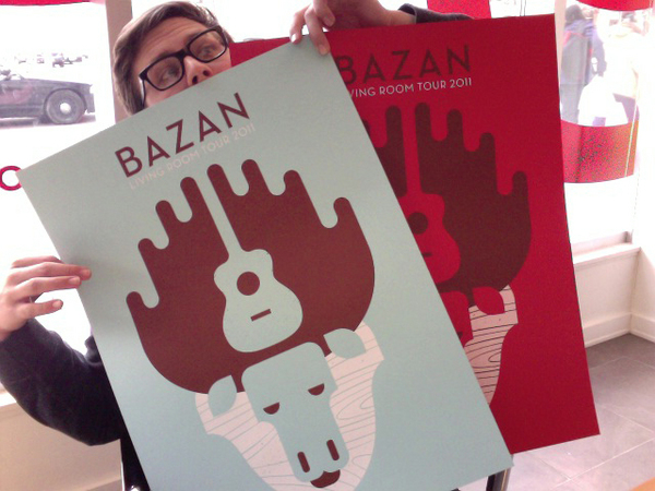 "That's me! seizurepalace: 2 COLOR ""MOOSE"" POSTER FOR DAVID BAZAN BY BANDITO DESIGN CO."