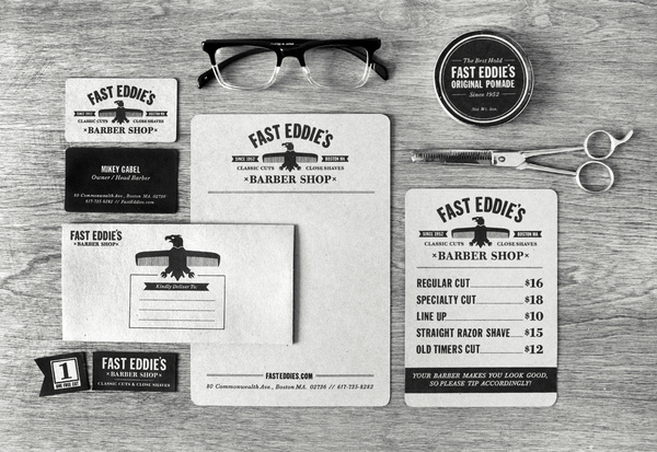 * OUTSTANDING BRANDING * Fast Eddie's Barber Shop by Richard Arthur Stewart