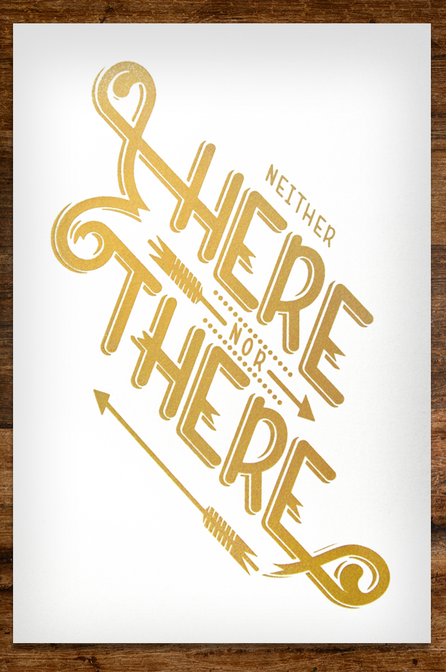 * COOL PRINTZ *   Neither Here Nor There   by  Alex Perez