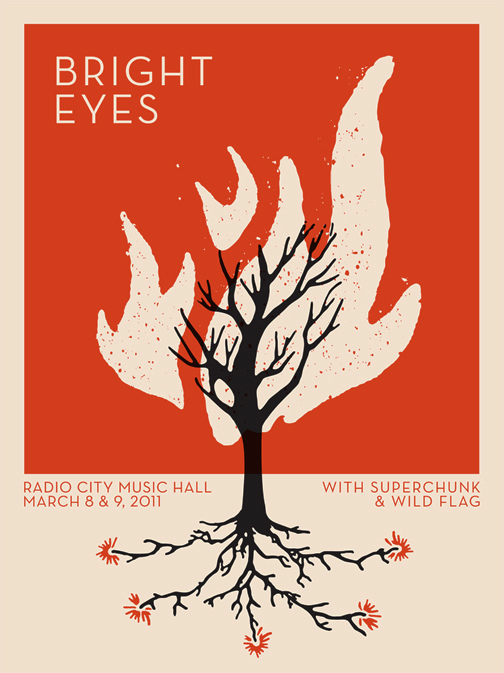 * BANDITO ORIGINAL *   just finished a new bright eyes gig poster. On sale mid-March!