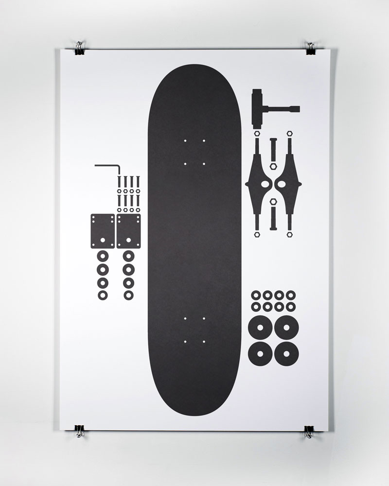"* COOL PRINTZ * sweet ""I used to skate"" print series by Mark Boyce http://markboyce.com/"